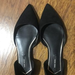 Zara Basic Black D'orsay Flats